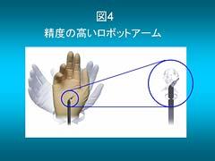 図4 :精度の高いロボットアーム